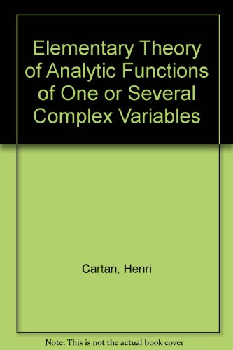 9780201009019: Elementary Theory of Analytic Functions of One or Several Complex Variables
