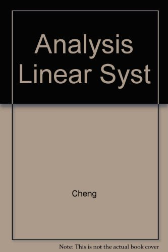 9780201010206: Analysis of Linear Systems