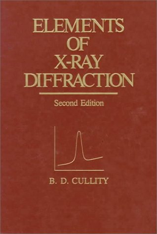 9780201011746: Elements of X-ray Diffraction (Addison-Wesley series in metallurgy and materials)