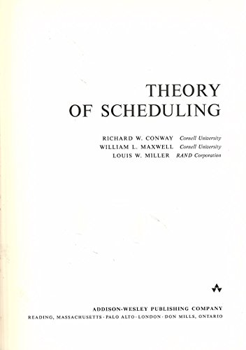 9780201011890: Theory of Scheduling