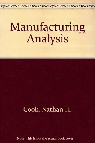 9780201012118: Manufacturing Analysis