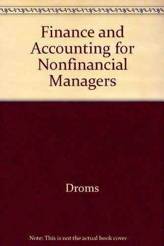 9780201013924: Finance and Accounting for Nonfinancial Managers