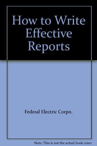 FEC Effective Report Paper: Federal Electric Corporation