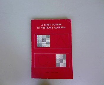 9780201020847: First Course in Abstract Algebra (World Student)