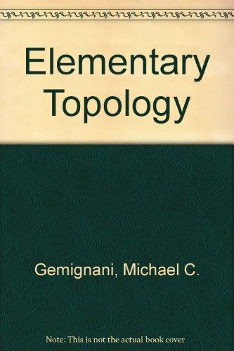 9780201023268: Elementary Topology