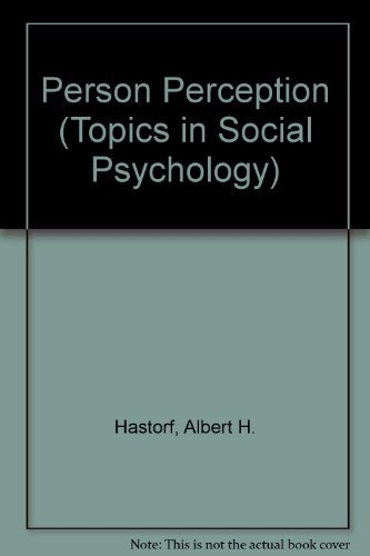 9780201027532: Person Perception (Topics in Social Psychology)