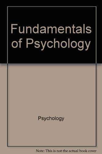 9780201027662: Fundamentals of psychology (Addison-Wesley series in psychology)