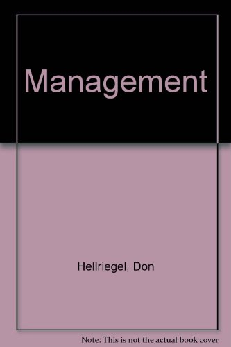 Management (0201028549) by Hellriegel, Don; Slocum, John W.