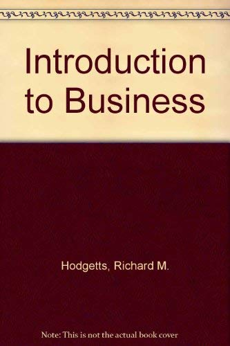 9780201028973: Introduction to Business