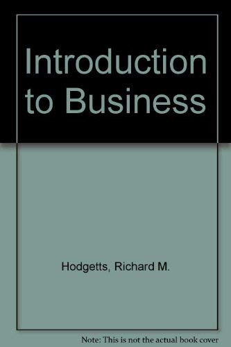 9780201038941: Introduction to Business