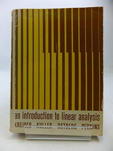 9780201039498: An introduction to linear analysis