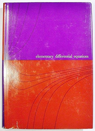 Elementary Differential Equations: Kreider, Donald L.; Kuller, Robert G.; Ostberg, Donald R.