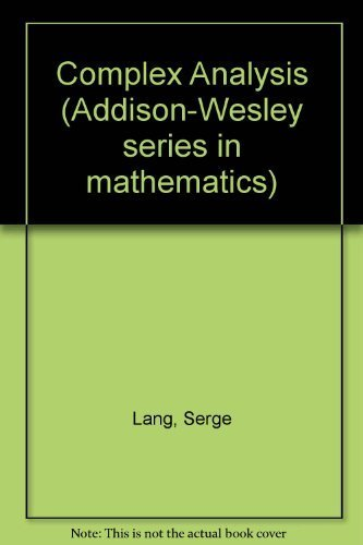 9780201041378: Complex Analysis (Addison-Wesley series in mathematics)