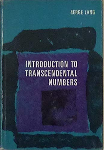 9780201041767: Introduction to Transcendental Numbers