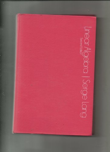 9780201042214: Linear Algebra, Second Edition, 1971