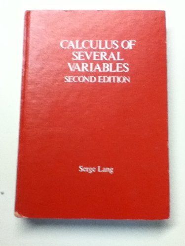 9780201042993: Calculus of Several Variables (Addison-Wesley series in mathematics)