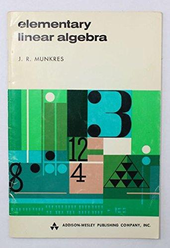 9780201048957: Elementary Linear Algebra