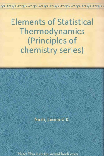 9780201052299: Elements of Statistical Thermodynamics