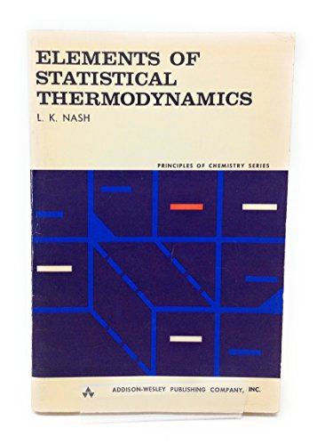 9780201052312: Elements of Statistical Thermodynamics