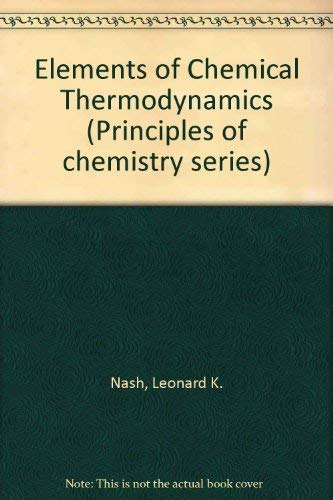 9780201052367: Elements of Chemical Thermodynamics