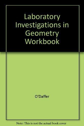 9780201054217: Laboratory Investigations in Geometry Workbook