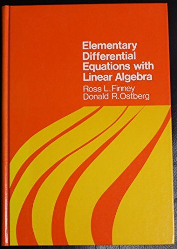 9780201055153: Elementary Differential Equations With Linear Algebra (Addison-Wesley series in mathematics)