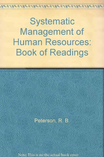 9780201058154: Readings in Systematic Management of Human Resources