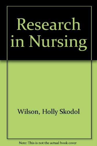 Research in Nursing: Holly Skodol Wilson