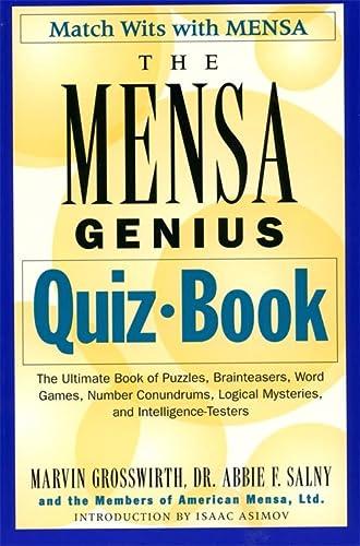 The Mensa Genius Quiz Book: Grossworth, Marvin