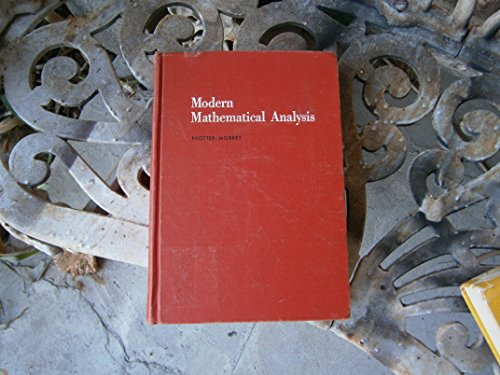 9780201059953: Modern Mathematical Analysis