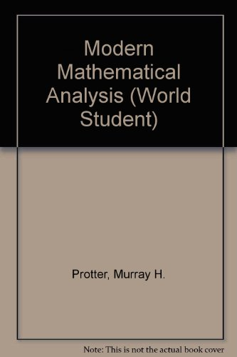 9780201059960: Modern Mathematical Analysis (World Student)