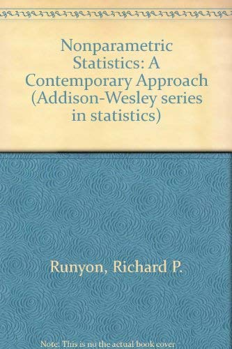 9780201065473: Nonparametric Statistics: A Contemporary Approach (Addison-Wesley series in statistics)