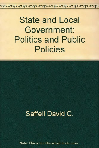 9780201065688: State and local government: Politics and public policies