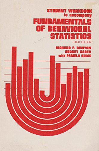 9780201066081: Student workbook to accompany Fundamentals of behavioral statistics, 3rd ed