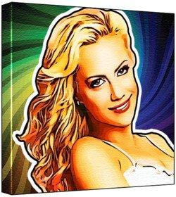 9780201066227: Brittany Murphy - Pop Art Print (Multicolour; Psychedelic Swirl Background) 30 x 30 x 2 cm Medium Square Deep Box Canvas