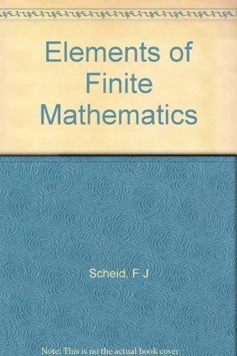 9780201067309: Elements of Finite Mathematics