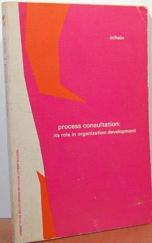 9780201067330: Process Consultation: v. 1: Its Role in Organizational Development
