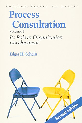 9780201067361: Process Consultation: Its Role in Organization Development, Volume 1 (Prentice Hall Organizational Development Series): v. 1