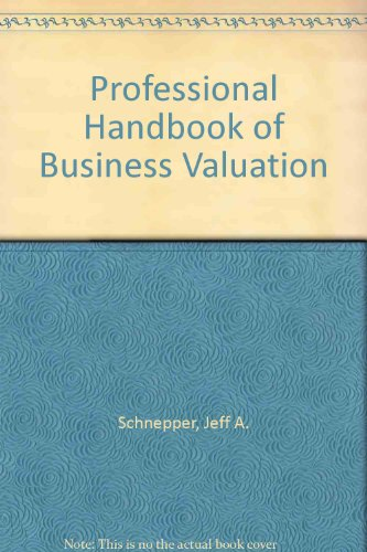9780201068818: The Professional Handbook of Business Valuation