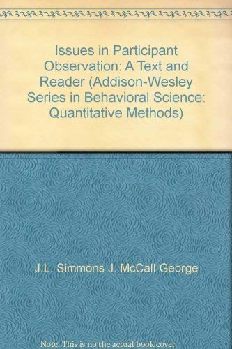 9780201070279: Issues in Participant Observation (Behavioral Science)