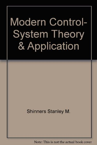 9780201074956: Modern Control, System Theory & Application