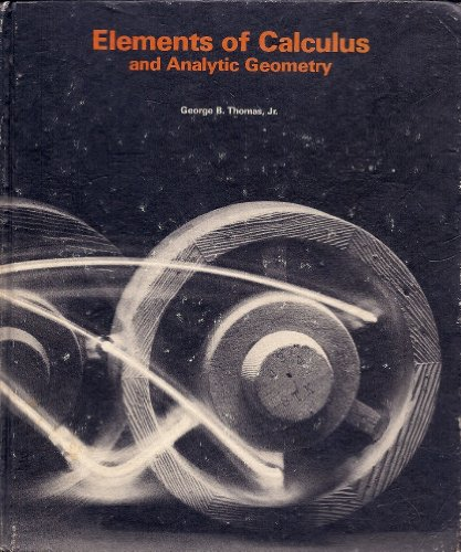 9780201075496: Elements of Calculus and Analytic Geometry