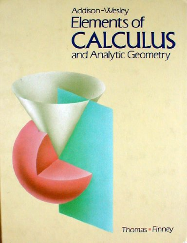 9780201075526: Elements of Calculus and Analytic Geometry (Addison-Wesley Secondary Mathematics Series)