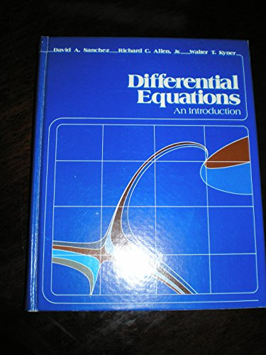 9780201077605: Differential equations: An introduction