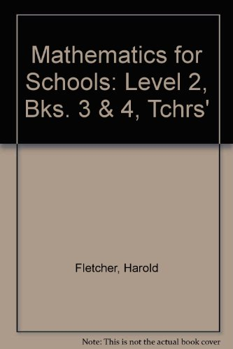 Mathematics for Schools. Level II. Teacher's Resource: Howell, Arnold A.;