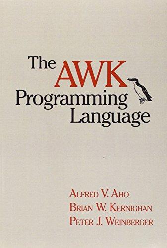 9780201079814: The AWK Programming Language