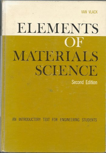 9780201080735: Elements of Materials Science