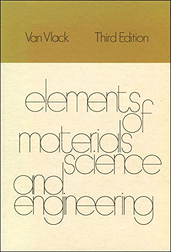 9780201080735: Elements of Materials Science (Addison-Wesley series in metallurgy and materials)