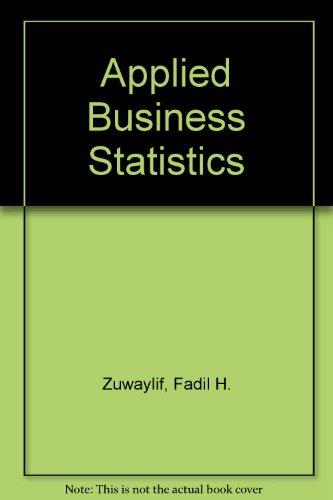 9780201089066: Applied Business Statistics