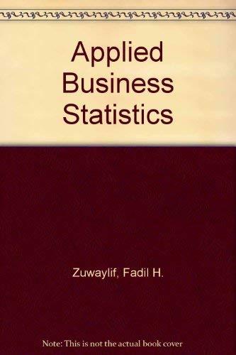 9780201096279: Applied Business Statistics